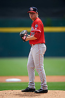 Louisville Bats starting pitcher Daniel Wright (17) gets ready to deliver a pitch during a game against the Buffalo Bisons on June 23, 2016 at Coca-Cola Field in Buffalo, New York.  Buffalo defeated Louisville 9-6.  (Mike Janes/Four Seam Images)