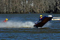 Frame 8: 1-US goes for a wild ride.   (outboard hydroplane)
