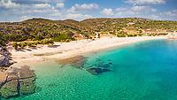 The beach Cheromylos in Evia, Greece
