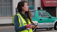 BNPS.co.uk (01202 558833)<br /> Pic: EllipsisEarth/BNPS<br /> <br /> Pictured: Ellipsis Earth CEO Ellie Mackay piloting a drone.<br /> <br /> Litter dropped in Britain's most popular seaside resort reduced by 75 per cent this summer thanks to a new project using drone technology. <br /> <br /> The first-of-its kind survey identified alarming litter patterns along Bournemouth beach in Dorset with a staggering 123,000 bits of litter discarded in just one week.<br /> <br /> The data was then used to target the worst areas with strategic bin placement.