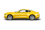 Car Driver side profile view of a 2016 Ford Mustang EcoBoost 2 Door Coupe Side View
