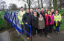 Grangemouth Gala Queen, Georgia Forsyth, is joined by Councillors and invited guests to officially open the new Zetland Park Foot Bridges.