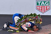 #30: Takuma Sato, Rahal Letterman Lanigan Racing Honda<br /> <br /> Takuma Sato kissing the bricks after winning the Indy 500