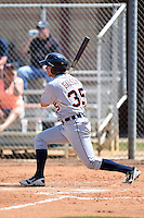 Detroit Tigers outfielder Tyler Gibson (35) during a minor league spring training game against the Houston Astros on March 21, 2014 at Osceola County Complex in Kissimmee, Florida.  (Mike Janes/Four Seam Images)