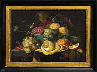 Belgique, Flandre Occidentale, Bruges, partie méridionale du centre historique classé Patrimoine Mondial de l'UNESCO,,   Musée Groeninge Nature Morte aux fruits - Joris van Son  - Anvers 1623 1667