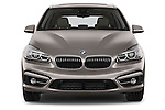 Car photography straight front view of a 2015 BMW 2 Series 5 Door Mini MPV 2WD Front View