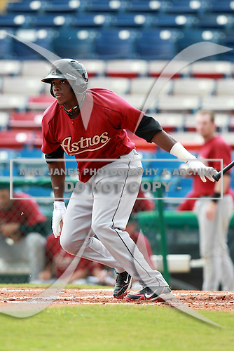 Houston Astros minor league outfielder Telvin Nash (75) during a game vs. the Chinese National Team in an Instructional League game at Holman Stadium in Vero Beach, Florida September 28, 2010.   Photo By Mike Janes/Four Seam Images