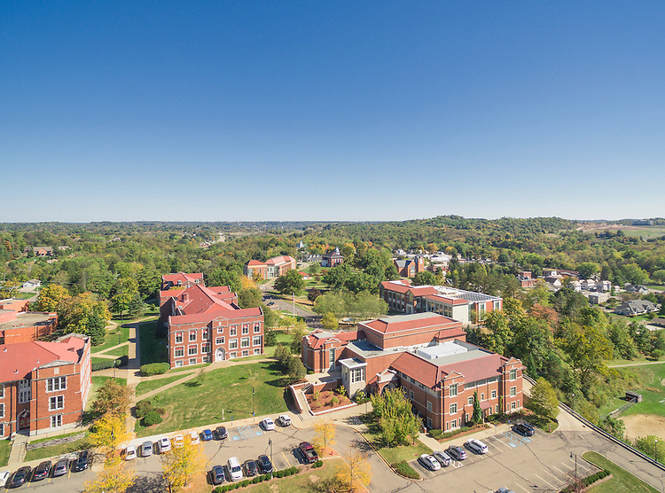 Muskingum University Aerial Photography   Bialosky + Partners Architects