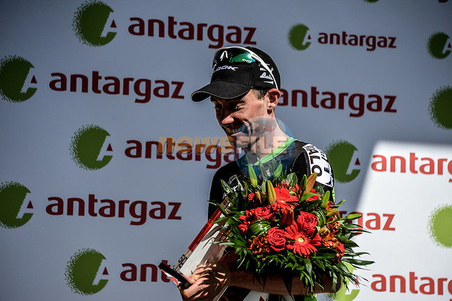 Anthony Delaplace (FRA) Bretagne-Seche wins the day's combativity prize at the end of Stage 7 of the 2015 Tour de France running 190.5km from Livarot to Fougeres, France. 10th July 2015.<br /> Photo: ASO/P.Perreve/Newsfile