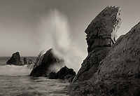 Crashing wave . Corona Del Mar. California