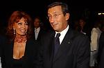 SOFIA LOREN CON GIANFRANCO FINI             ROMA 2003