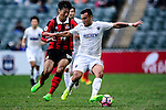 Auckland City Midfielder Clayton Lewis (r) is chased by Hwang Kiwook of FC Seoul (l) during the 2017 Lunar New Year Cup match between Auckland City FC (NZL) vs FC Seoul (KOR) on January 28, 2017 in Hong Kong, Hong Kong. Photo by Marcio Rodrigo Machado/Power Sport Images