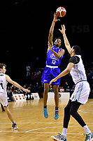 Kerwin Roach of the Wellington Saints passes the ball during the NBL match between the Wellington Saints and the Auckland Huskies at TSB Bank Arena, Wellington, New Zealand on Friday 28 May 2021.<br /> Photo by Masanori Udagawa. <br /> www.photowellington.photoshelter.com
