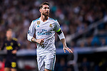 Sergio Ramos of Real Madrid reacts during the UEFA Champions League 2017-18 match between Real Madrid and Tottenham Hotspur FC at Estadio Santiago Bernabeu on 17 October 2017 in Madrid, Spain. Photo by Diego Gonzalez / Power Sport Images