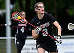 GER - Hannover, Germany, May 30: During the Women Lacrosse Playoffs 2015 match between DHC Hannover (black) and SC Frankfurt 1880 (red) on May 30, 2015 at Deutscher Hockey-Club Hannover e.V. in Hannover, Germany. Final score 23:3. (Photo by Dirk Markgraf / www.265-images.com) *** Local caption *** Henrike Voigt #3 of DHC Hannover