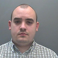 Pictured: Custody picture of Owain Thomas.<br /> Re: An aspiring barrister who used online gaming accounts to befriend children and incite them to commit sexual acts on camera has been jailed for ten years by Merthyr Crown Court.<br /> Owain Thomas, 29, from Pontypridd, south Wales, used multiple Facebook profiles and three gaming accounts to persuade some of his 146 victims with gaming credits.<br /> He was arrested after he asked two young boys aged eight and six to expose themselves at a playground.<br /> Judge Richard Twomlow said he will have to serve an extra five years on extended licence.