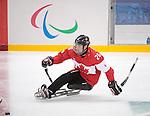 Dominic Larocque, Sochi 2014 - Para Ice Hockey // Para-hockey sur glace.<br /> Team Canada takes on Sweden in Para Ice Hockey // Équipe Canada affronte la Suède en para-hockey sur glace. 08/03/2014.