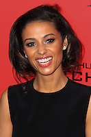 """NEW YORK, NY - NOVEMBER 20: Meta Golding at the New York Premiere Of Lionsgate's """"The Hunger Games: Catching Fire"""" held at AMC Lincoln Square Theater on November 20, 2013 in New York City. (Photo by Jeffery Duran/Celebrity Monitor)"""