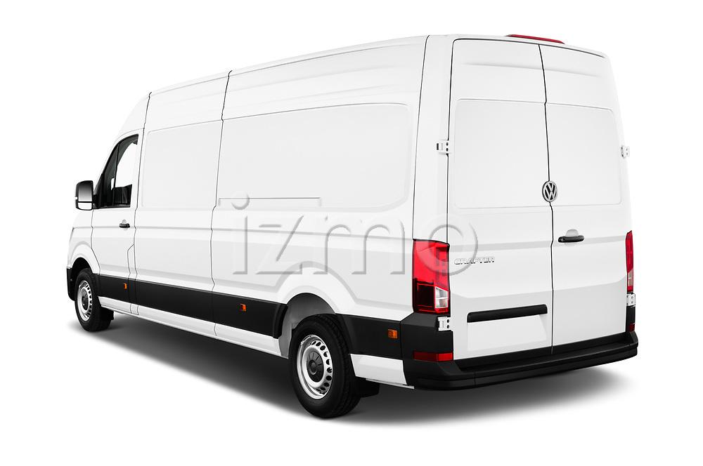 Car pictures of rear three quarter view of a 2019 Volkswagen Crafter Base 4 Door Cargo Van angular rear