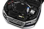Car Stock 2017 Audi A4 Sport 4 Door Sedan Engine  high angle detail view