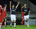 23/09/2008  Copyright Pic: James Stewart.File Name : sct_jspa01_falkirk_v_qots.NEIL MCCANN CELEBRATES SCORING FALKIRK'S FIRST....James Stewart Photo Agency 19 Carronlea Drive, Falkirk. FK2 8DN      Vat Reg No. 607 6932 25.Studio      : +44 (0)1324 611191 .Mobile      : +44 (0)7721 416997.E-mail  :  jim@jspa.co.uk.If you require further information then contact Jim Stewart on any of the numbers above........