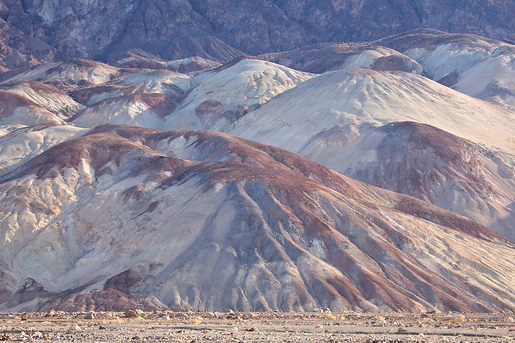 Artist's Palette at the foot of the Black Mountains in Death Valley National Park, California, USA