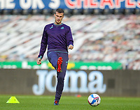 31st October 2020; Liberty Stadium, Swansea, Glamorgan, Wales; English Football League Championship Football, Swansea City versus Blackburn Rovers; Ryan Bennett of Swansea City during the warm up