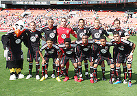 Starting eleven of D.C. United  during an MLS match against the New York Red Bulls on May 1 2010, at RFK Stadium in Washington D.C. Red Bulls won 2-0.
