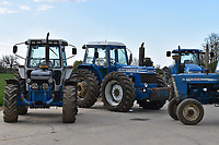 BNPS.co.uk (01202) 558833. <br /> Pic: Cheffins/BNPS<br /> <br /> A farming family is today celebrating after their incredible collection of almost 100 vintage tractors sold for a staggering £1million.<br /> <br /> Father and son duo Ian and Martin Liddell began hoarding the agricultural vehicles at their arable farm in the 1980s.<br /> <br /> Their fleet of tractors was so large that they had to be stored in three barns.<br /> <br /> The prized collection sparked a worldwide bidding war when it was sold with auctioneers Cheffins, of Cambridge, after the family decided to part with the tractors to free up space on their Essex farm to pursue other projects.