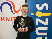 Rotterdam, The Netherlands, March 13, 2016,  TV Victoria, NOJK 12/16 years, Runner up boys 16 years Jesper de Jong  (NED) <br /> Photo: Tennisimages/Henk Koster