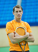 Moskou, Russia, Februari 3, 2016, Fed Cup Russia-Netherlands,  Practise Dutch team,    captain Paul Haarhuis<br /> Photo: Tennisimages/Henk Koster