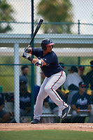 GCL Braves Christian Zamora (51) bats during a Gulf Coast League game against the GCL Pirates on July 30, 2019 at Pirate City in Bradenton, Florida.  GCL Braves defeated the GCL Pirates 10-4.  (Mike Janes/Four Seam Images)