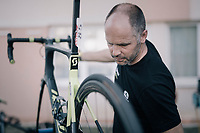 mechanics go to work after every stage to get the bikes in perfect racing condition again<br /> <br /> 104th Tour de France 2017<br /> Stage 7 - Troyes › Nuits-Saint-Georges (214km)