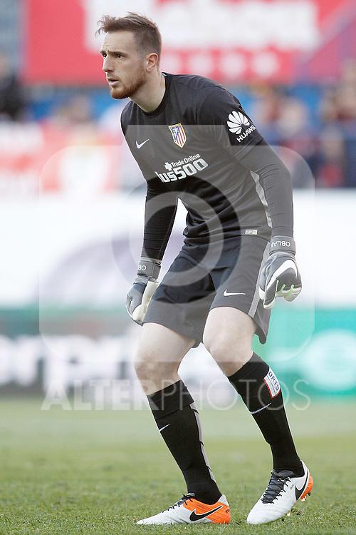 Atletico de Madrid's Jan Oblak during La Liga match. April 17,2016. (ALTERPHOTOS/Acero)