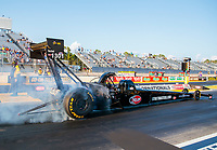 Sep 26, 2020; Gainesville, Florida, USA; NHRA top fuel driver Doug Foley during qualifying for the Gatornationals at Gainesville Raceway. Mandatory Credit: Mark J. Rebilas-USA TODAY Sports