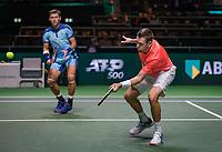 Rotterdam, The Netherlands, 11 Februari 2019, ABNAMRO World Tennis Tournament, Ahoy, first round doubles:  Austin Krajicek (USA) - Artem Sitak (NZL) (L)<br /> Photo: www.tennisimages.com/Henk Koster