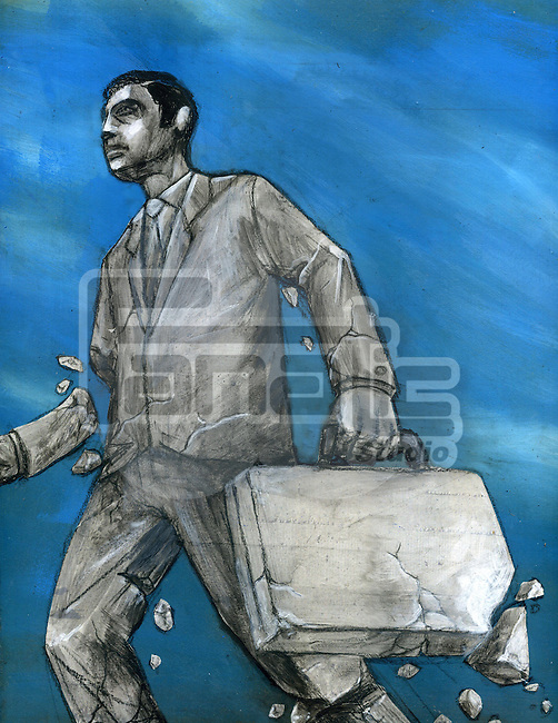 Businessman representating the concept of business breakdown