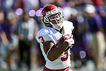 Oklahoma Sooners wide receiver Sterling Shepard (3) in action during the game between the Oklahoma Sooners and the TCU Horned Frogs at the Amon G. Carter Stadium in Fort Worth, Texas. TCU defeats OU 37 to 33.