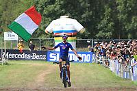 28th August 2021; Commezzadura, Trentino, Italy;  2021 Mountain Bike Cycling World Championships, Val di Sole; Cross Country, Mens Under 23, Juri Zanotti (ITA)