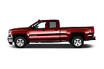 Car Driver side profile view of a 2018 Chevrolet Silverado-1500 LT-Double-Cab-Std-Box 4 Door Pick-up Side View