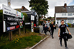 Richie Baker of FC Fylde walking to the ground. Vanarama National League North, Promotion Final, North Ferriby United v FC Fylde, 14th May 2016.