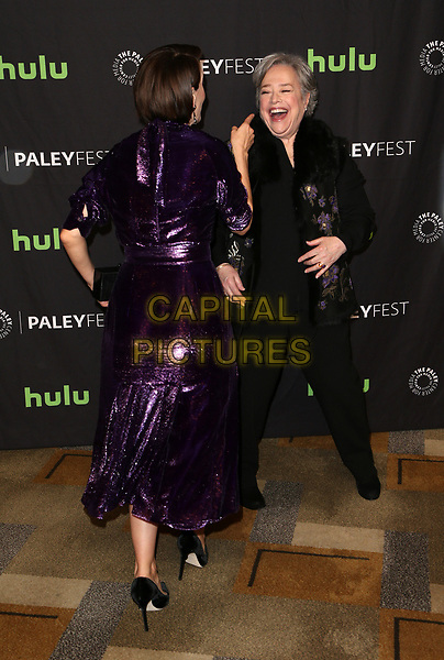 """HOLLYWOOD, CA - March 26: Sarah Paulson, Kathy Bates, At The Paley Center For Media's 34th Annual PaleyFest Los Angeles - """"American Horror Story: Roanoke""""  At The Dolby Theatre In California on March 26, 2017. <br /> CAP/MPI/FS<br /> ©FS/MPI/Capital Pictures"""