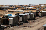DOMIZ, IRAQ: New tents and living spaces in the Domiz refugee camp...Over 7,000 Syrian Kurds have fled the violence in Syria and are living in the Domiz refugee camp in the semi-autonomous region of Iraqi Kurdistan...Photo by Ari Jalal/Metrography