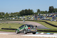Bradley Sampson, Mitsubishi Lancer Evolution, Retro 4WD stationary before approaching the grid line during the 5 Nations BRX Championship at Lydden Hill Race Circuit on 31st May 2021