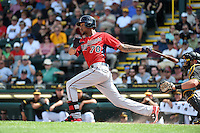 Minnesota Twins outfielder Byron Buxton (70) during a Spring Training game against the Pittsburgh Pirates on March 13, 2015 at McKechnie Field in Bradenton, Florida.  Minnesota defeated Pittsburgh 8-3.  (Mike Janes/Four Seam Images)