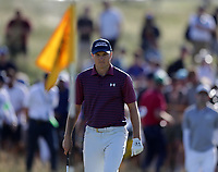17th July 2021; Royal St Georges Golf Club, Sandwich, Kent, England; The Open Championship Golf, Day Three; Jordan Speith (USA) prepares to hit his second shot on the 11th hole