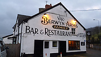 Pictured: The Berwyn Arms in Glyndyfrdwy near Coren, Wales, UK.<br /> Re: An inquest has heard how Noel Rogers woke up at a hotel to find his wife Porsche Louise Rogers, on their first wedding anniversary on north Wales, UK.<br /> Noel Rogers, 70, woke to find wife Porsche Louise Rogers, 22, dead at the Berwyn Arms in Glyndyfrdwy near Corwen on October 29, 2019, the day the couple were due to leave the hotel.<br /> The couple, who shared a large age gap, she was aged 22 and Mr Rogers was in his 70s.<br /> A post-mortem examination gave a cause of death as hanging, an inquest in Ruthin heard.<br /> It also found she had alcohol in her system at just under twice the legal driving limit and anti-convulsant and anti-psychotic medicines, at therapeutic levels.