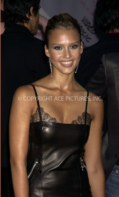 Jessica Alba at 2003 Video Music Awards. New York, August 28, 2003. Please byline: NY Photo Press.   ..*PAY-PER-USE*      ....NY Photo Press:  ..phone (646) 267-6913;   ..e-mail: info@nyphotopress.com