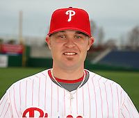 February 24, 2010:  Pitcher Andrew (Drew) Carpenter (48) of the Philadelphia Phillies poses during photo day at Bright House Field in Clearwater, FL.  Photo By Mike Janes/Four Seam Images