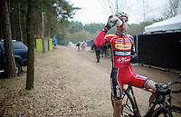 Kevin Pauwels (BEL/Sunweb-Napoleon Games) post-race<br /> <br /> Elite Men's Race<br /> Krawatencross<br /> bpost bank trofee